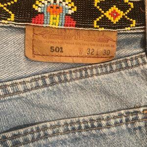 Vintage 'Levi's' Beaded Jeans 32/8